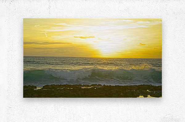 Waves at Sunset  Metal print