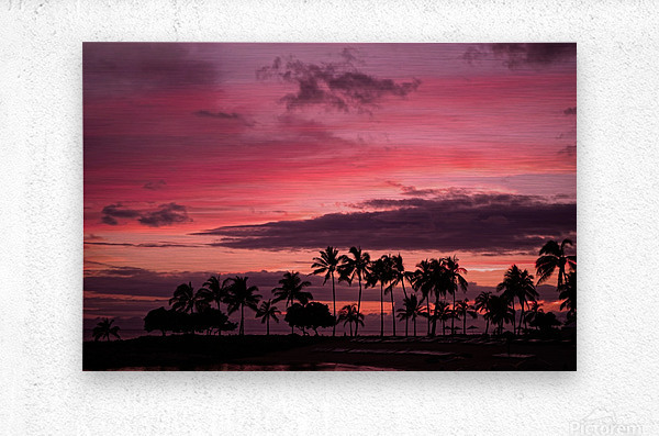Ease into the Night  Metal print