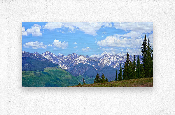 Rocky Mountain High Colorado Panorama   Metal print