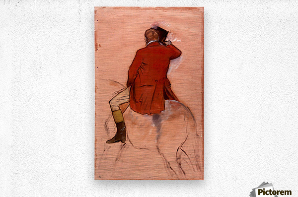 Rider with red jacket by Degas  Metal print