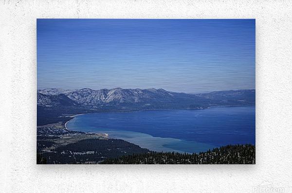 Lake Tahoe View  Metal print