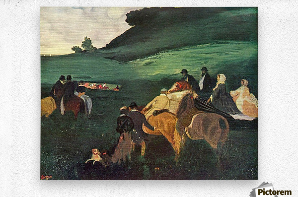 Riders in the  landscape by Degas  Metal print