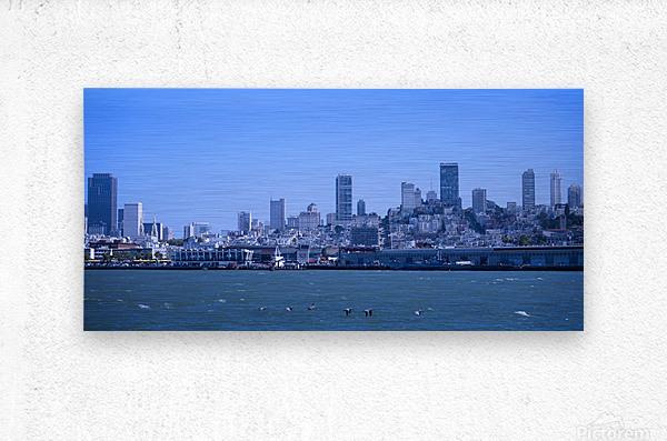 Blue Skies over San Francisco   Metal print