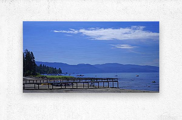 Spring at Lake Tahoe 1 of 7  Metal print