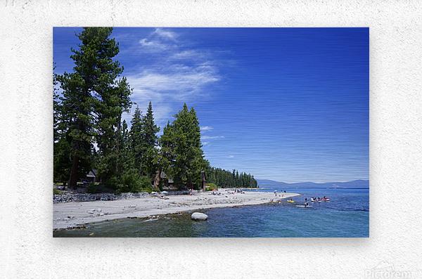 Spring at Lake Tahoe 2 of 7  Metal print