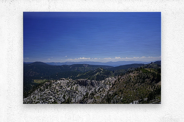 View from the Top @ Lake Tahoe  Metal print
