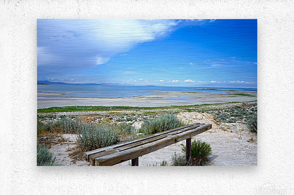 The Great Salt Lake 1 of 7  Metal print