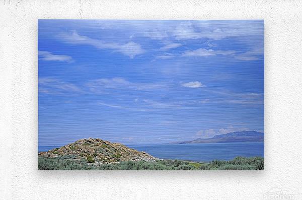 The Great Salt Lake 2 of 7  Metal print