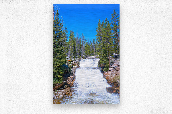 On The Road to Mirror Lake 1 of 5  Metal print