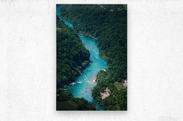 Blue vein  Metal print