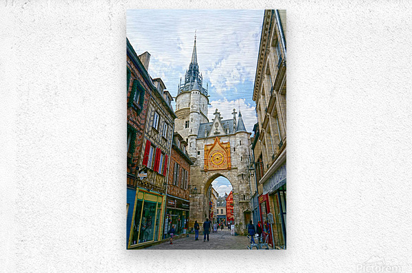 Auxerre France Snapshot in Time  Metal print