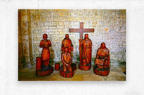 Basilica of Sainte Marie Madeleine 5 of 5 @  Vezelay France  Metal print