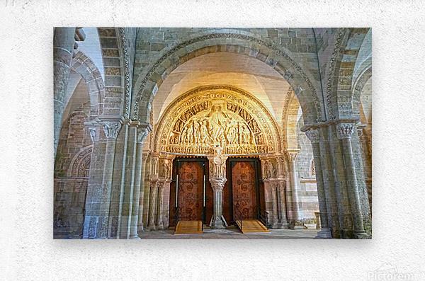 Basilica of Sainte Marie Madeleine 3 of 5 @  Vezelay France  Metal print