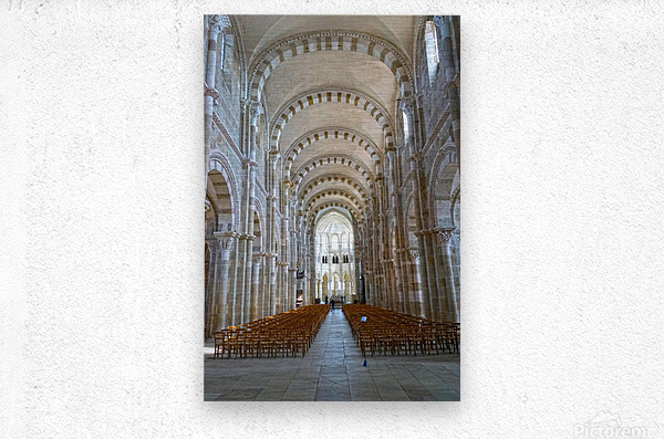 Basilica of Sainte Marie Madeleine 4 of 5 @ Vezelay France  Metal print