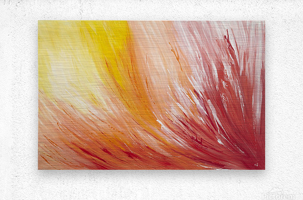 Closest view at  a  Flower.  Metal print