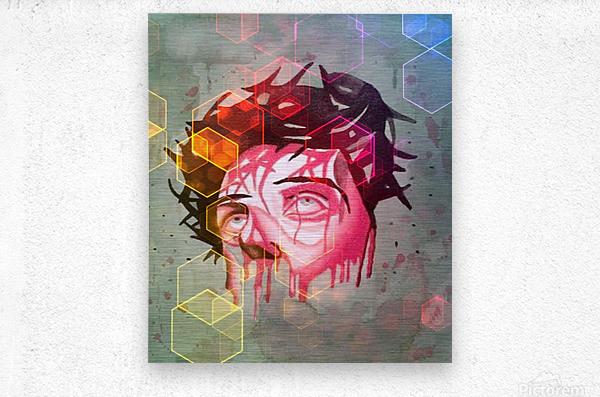 jesus 1  Metal print