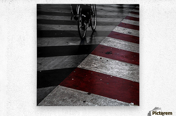 DirtY ReD by Gilbert Claes   Metal print