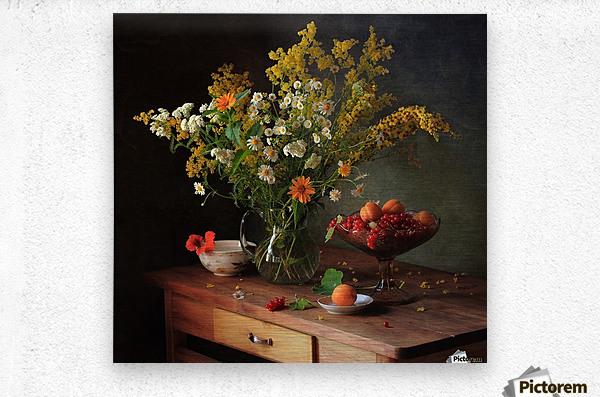 flower by    Metal print