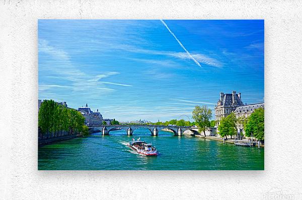 Paris Snapshot in Time 6 of 8  Metal print