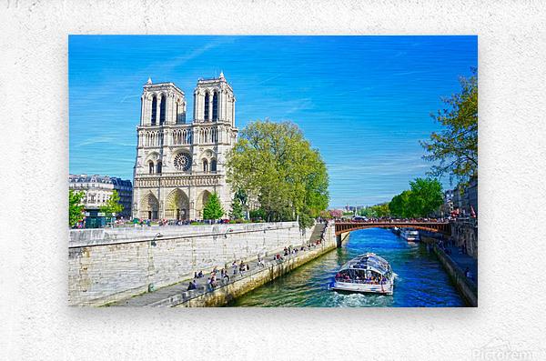 Paris Snapshot in Time 8 of 8  Metal print