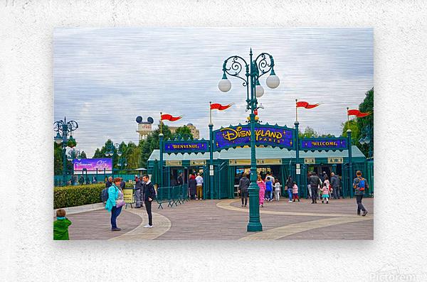 Paris Disneyland 1 of 4  Metal print