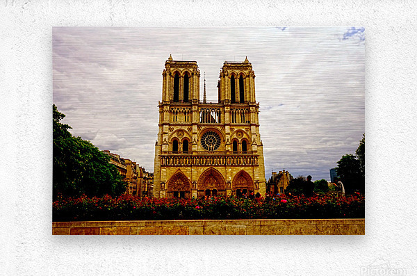 Jeanne d Arc and Saint Croix Cathedral at Orleans   France 1 of 7  Metal print