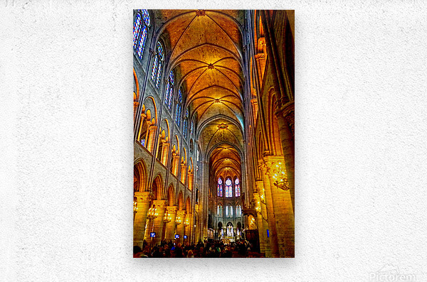 Jeanne d Arc and Saint Croix Cathedral at Orleans   France 2 of 7  Metal print