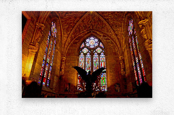 Jeanne d Arc and Saint Croix Cathedral at Orleans   France 5 of 7  Metal print