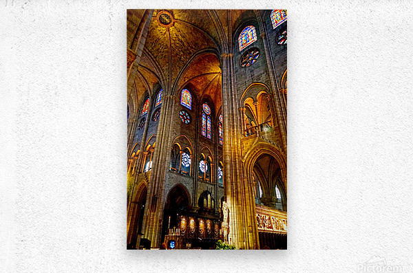 Jeanne d Arc and Saint Croix Cathedral at Orleans   France 3 of 7  Metal print