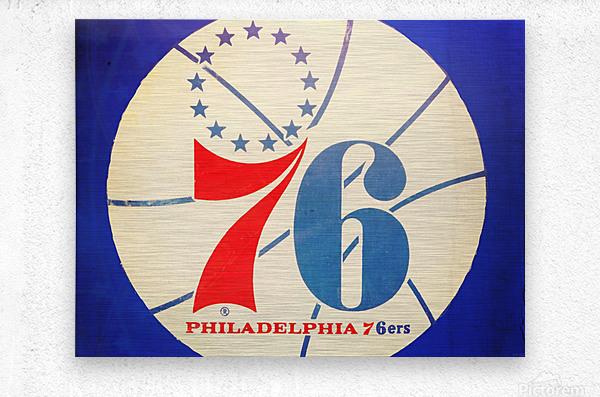Vintage Philadelphia 76ers Art  Metal print