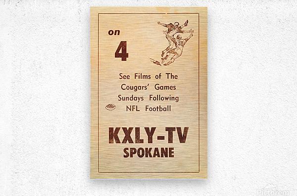 1962 kxly tv spokane football ad  Metal print