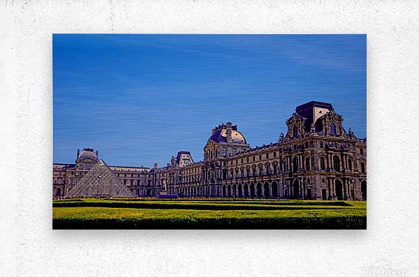 The Louvre Paris 1st Arrondissement Paris  Metal print