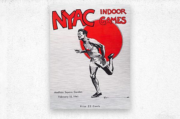 1941 New York Indoor Games  Metal print