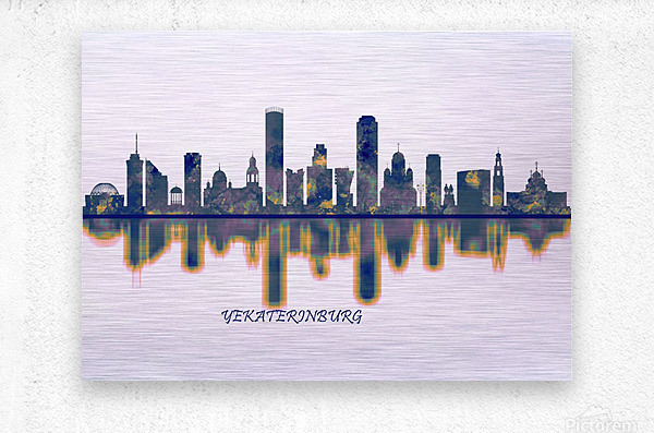 Yekaterinburg Skyline  Metal print