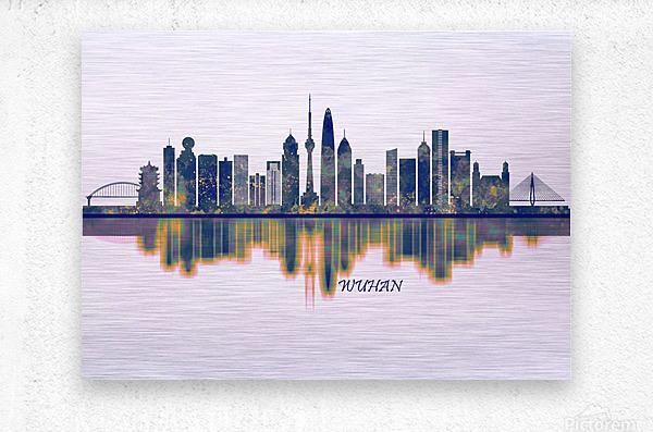 Wuhan Skyline  Metal print