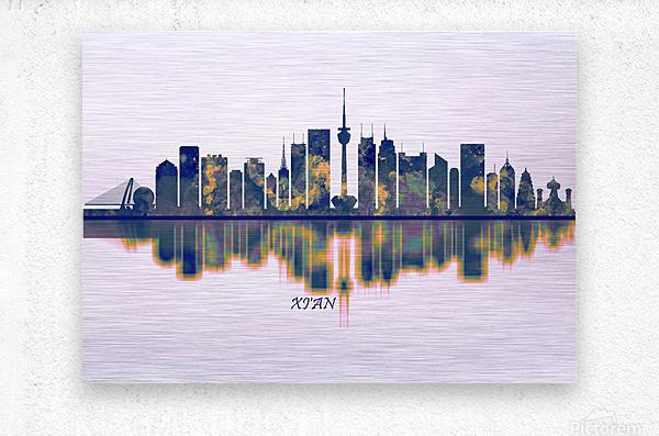 Xian Skyline  Metal print