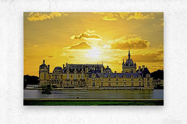 Chateau de Fontainebleau  Metal print