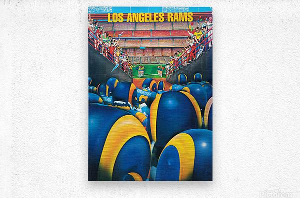 1984 Los Angeles Rams Enter The Field  Metal print