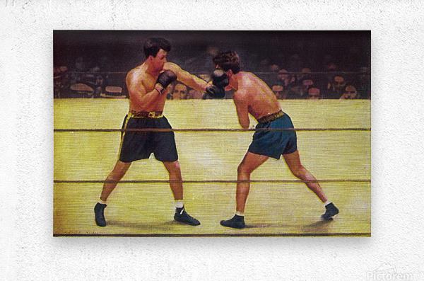 Vintage Boxing Art  Metal print