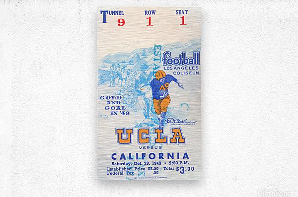 1948 UCLA vs. California  Metal print