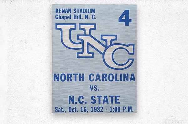 1982 North Carolina vs. NC State  Metal print