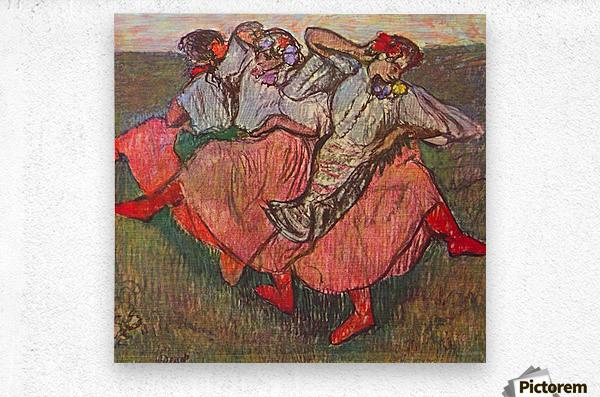 Russian Dancers by Degas  Metal print