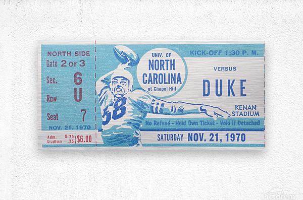 1970 North Carolina vs. Duke  Metal print