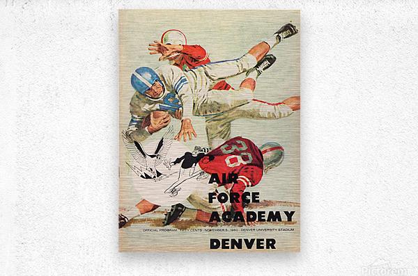 1961 Air Force vs. Denver  Metal print