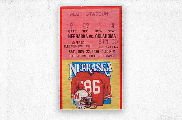 1986 Oklahoma vs. Nebraska  Metal print