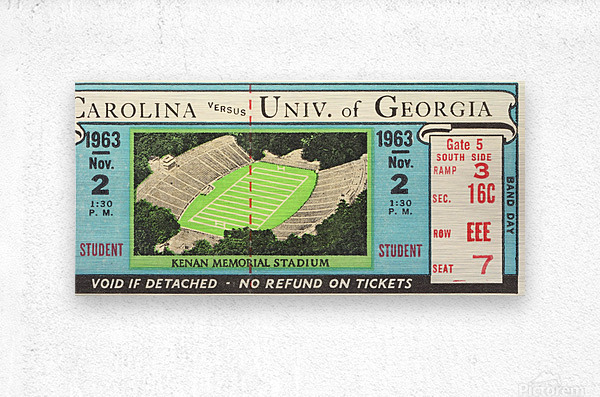 1963 North Carolina vs. Georgia  Metal print