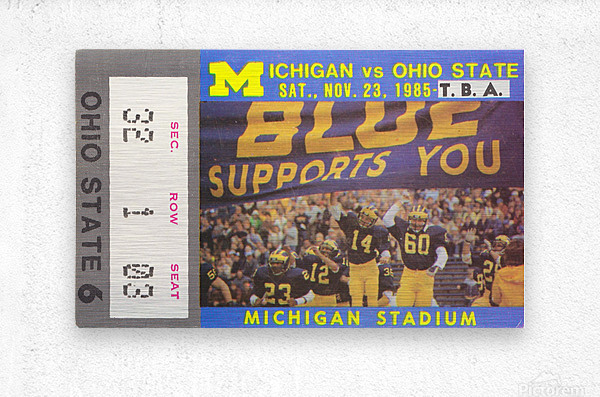 1985 Michigan vs. Ohio State  Metal print