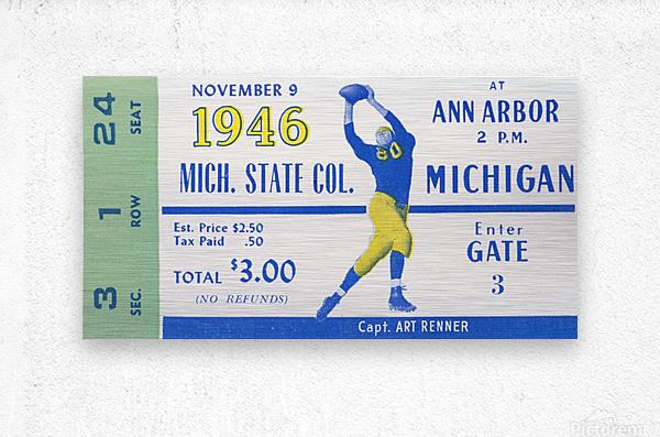 1946 Michigan vs. Michigan State  Metal print