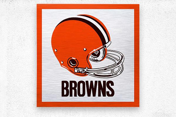 1971 Cleveland Browns Helmet  Metal print