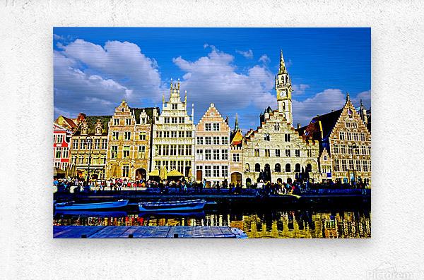 Passport to Belgium 3 of 5  Metal print